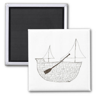 The Ship Square Magnet