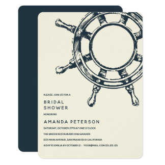 The Ship's Wheel | Wedding Bridal Shower Card