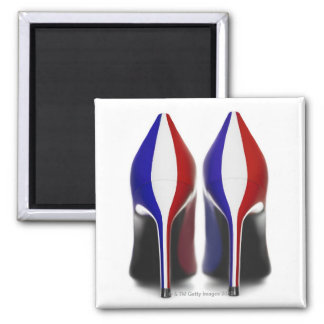 The shoes are women's high heeled shoes, also magnet