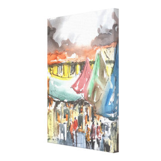 """The Shoppers"" Art on Canvas"