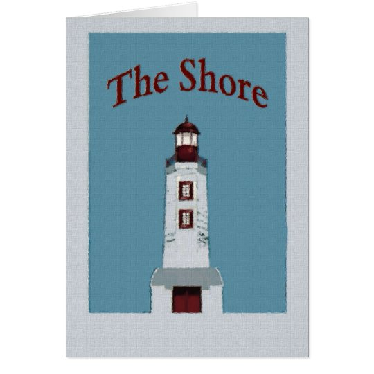 The Shore lighthouse Card