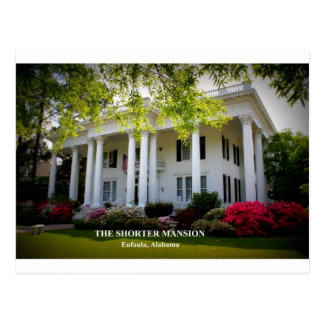 THE SHORTER MANSION - EUFAULA, ALABAMA POSTCARD