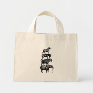 The show must go on. mini tote bag