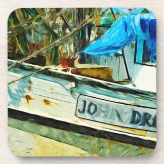 The Shrimp Boat John Drew Abstract Impressionism Coasters