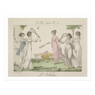 The Shuttlecock, plate 11 from 'Le Bon Genre', 180 Postcard