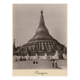 The Shwedagon Pagoda at Rangoon, Burma, c.1860 Postcard