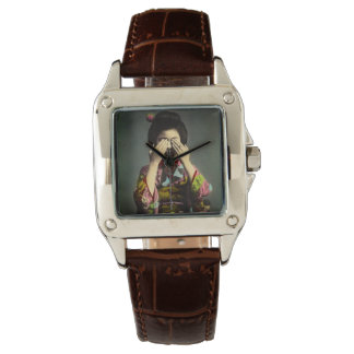 The Shy Geisha Vintage Old Japan Hand Colored Wristwatches