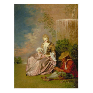 The Shy Lover, 1718 Postcard