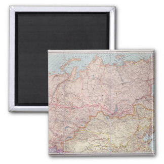 The Siberian Railway Square Magnet