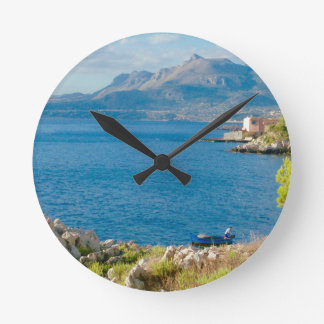 The Sicilian Fisherman Round Clock