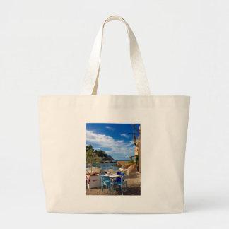 The Sicilian Fishing Village Large Tote Bag