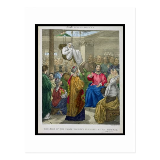 The Sick of the Palsy Brought to Christ by his Fri Postcard
