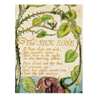 The Sick Rose, from Songs of Innocence Postcard