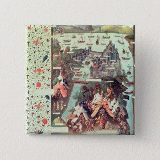 The Siege of Constantinople 2 Inch Square Button