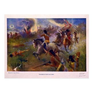 The Siege of New Ulm Minnesota from the Dakota War Postcard