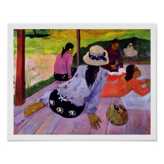 The Siesta, 1891-2 (oil on canvas) Poster