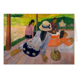 The Siesta by Paul Gauguin Tahitian Women Tahiti Card