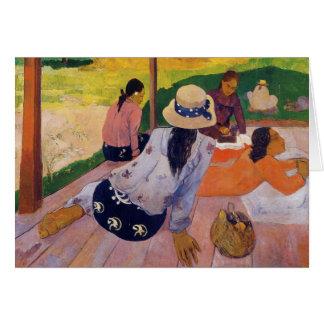 The Siesta - Paul Gauguin Card