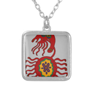 The Sigil of the Stern Embrace Silver Plated Necklace