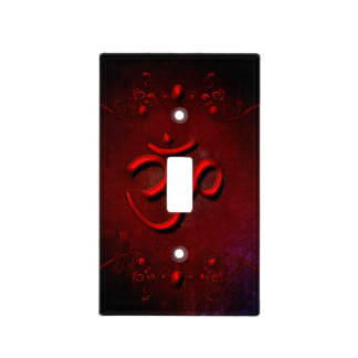 The sign om light switch cover