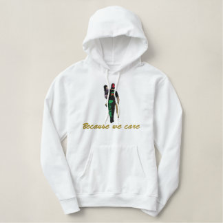 The Silent Messenger Custom Embroidery Embroidered Hoodie