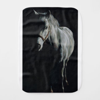 The Silver Horse in the shadows Burp Cloth