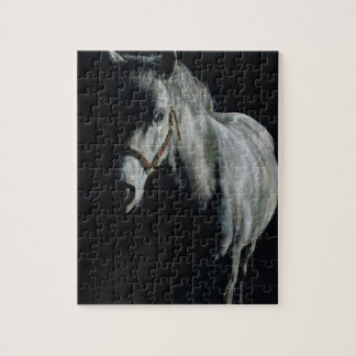The Silver Horse in the shadows Jigsaw Puzzle