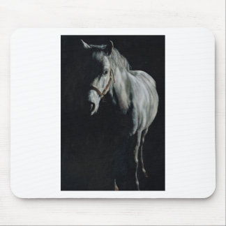 The Silver Horse in the shadows Mouse Pad