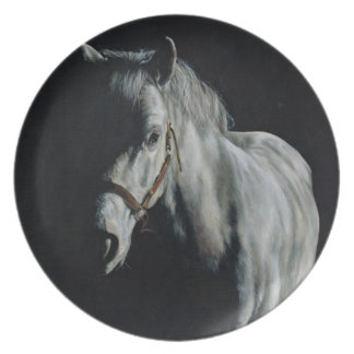 The Silver Horse in the shadows Plate