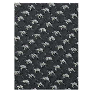 The Silver Horse in the shadows Tablecloth
