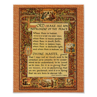 The Simple Prayer for Peace St. Francis of Assisi Poster