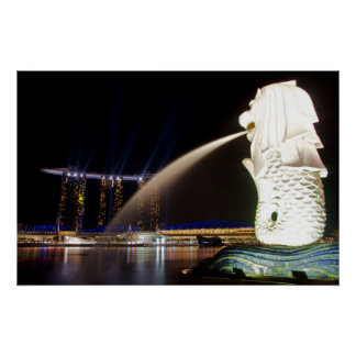 The Singapore Merlion Poster