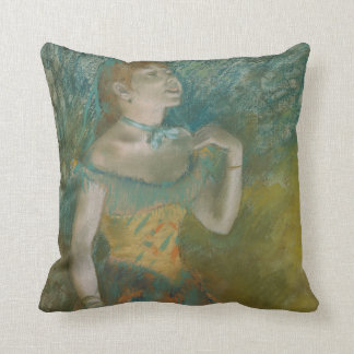 The Singer in Green Throw Pillow