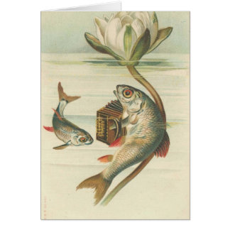 the Singing Fish vintage card