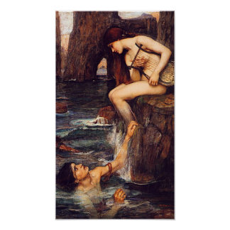 The Siren Pre Raphaelite by John W. Waterhouse Poster