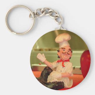 The Sitting Chef Basic Round Button Keychain