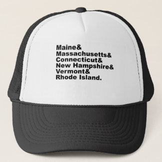 The Six Northeast States That Make Up New England Trucker Hat