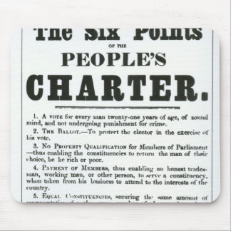 The Six Points of the People's Charter Mouse Pad