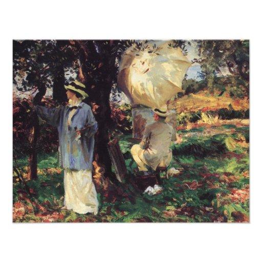 The Sketchers by Sargent, Vintage Victorian Art Custom Invite