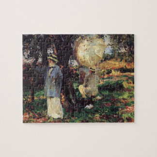 The Sketchers by Sargent, Vintage Victorian Art Jigsaw Puzzle