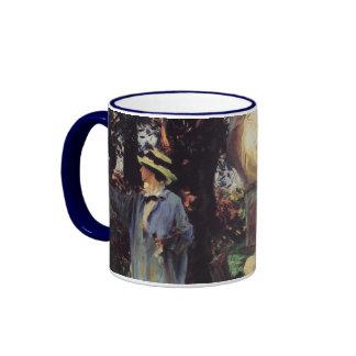 The Sketchers by Sargent, Vintage Victorian Art Ringer Coffee Mug