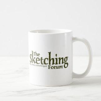 The Sketching Forum Logo with URL Coffee Mugs