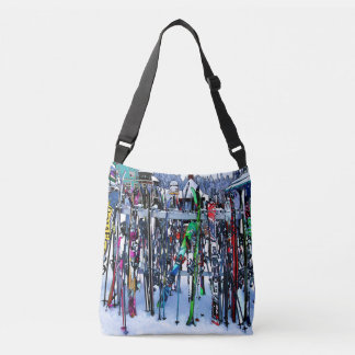 The Ski Party - Skis and Poles Crossbody Bag