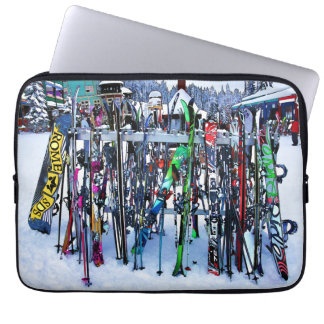 The Ski Party - Skis and Poles Laptop Sleeve