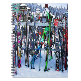 The Ski Party - Skis and Poles Notebooks