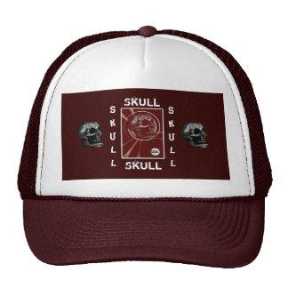 the Skull Vertical Red Trucker Hat
