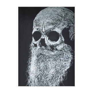 "The skull''the Guru"" Canvas Print"