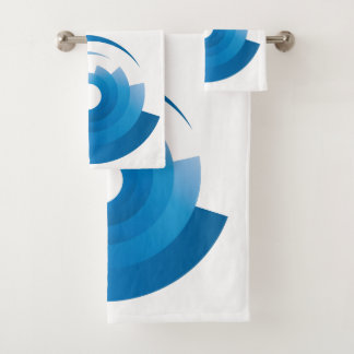 the sky colors are spinning bath towel set