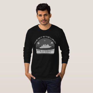 THE SKY IS THE LIMIT Dare to Research Flat Earth T-Shirt