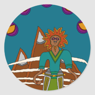 The Sky Walker Classic Round Sticker